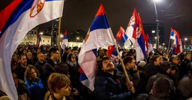 Around 20,000 Serbs protest against President Vucic