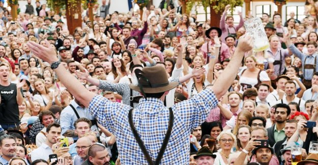 At the Oktoberfest, men are to primitive man