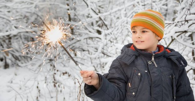 Beware of sparklers - damage is not covered by the insurance
