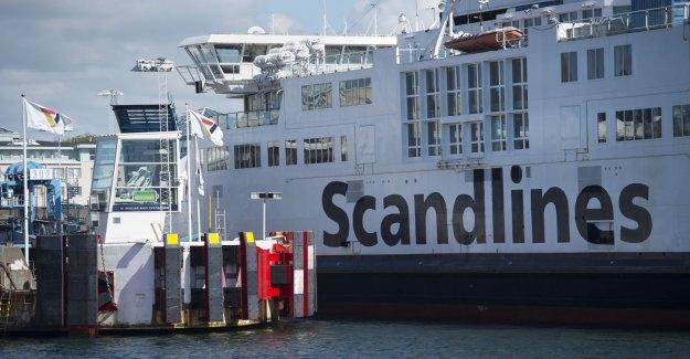 Bus caught fire on the ferry's car decks