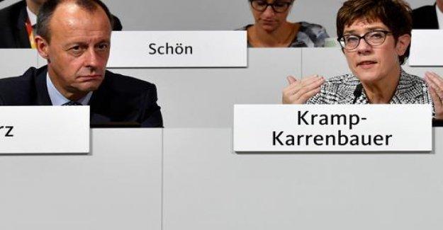 CDU: Kramp-Karrenbauer and Merz want to work together
