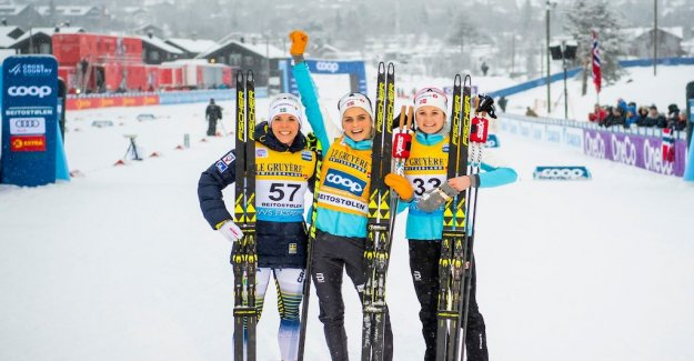 Charlotte Kalla back on the podium – second behind Johaug