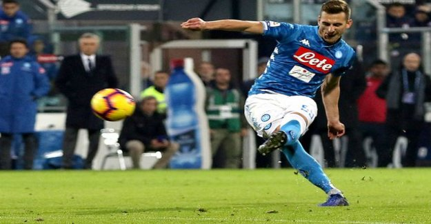 Cool the solution to time - Milikin stunning twist free kick brought Naples away win