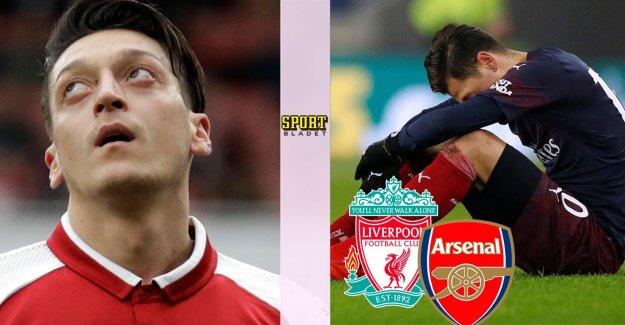 Data: Özil outside Arsenal's squad