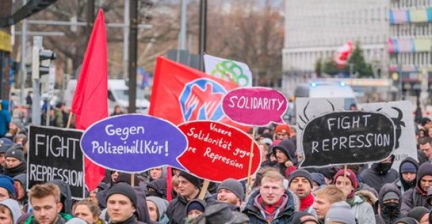 Demonstrations against the country's police, legislation in lower Saxony and North Rhine-Westphalia