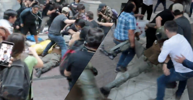 Demonstrations reaches new highs: Here are cop beaten unconscious