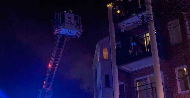 Fire on the second floor of the apartment block in Cavan