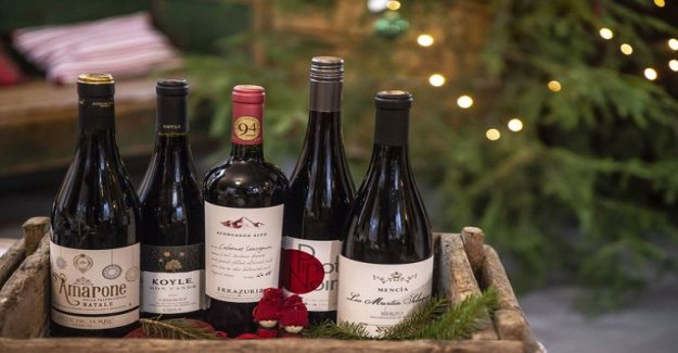 Five christmas best red wine: like a glass as is