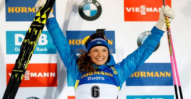 Hanna Öberg took the first place on the podium in the world cup: Finally
