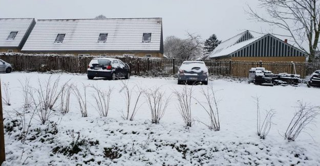 Here wakes the danes to white christmas