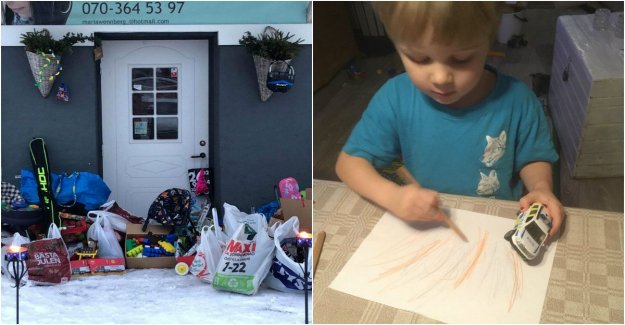 Here you can submit packages to the disadvantaged children – thanks to Noel, 4