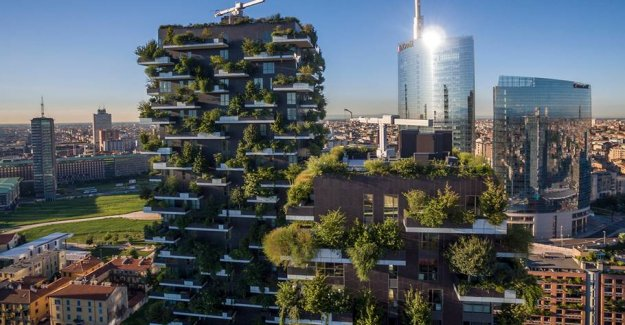 High-rise buildings covered with forest purifies the air in Milan