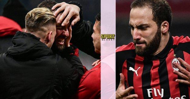 Higuain saved the Milan – broke the long måltorkan