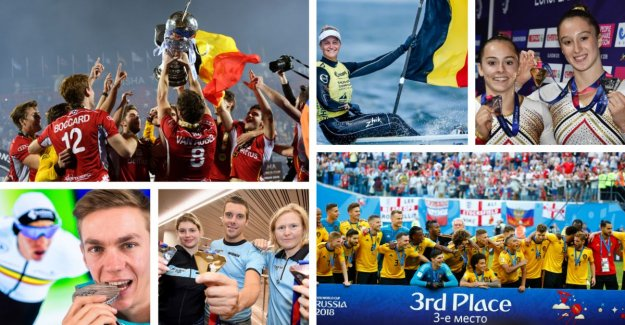 IN THE PICTURE. The sportjaar where we all dreamed of, all Belgian medal winners of the 2018 put in the flowers