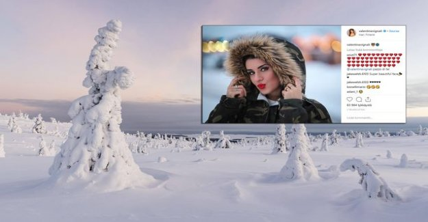 Italian model beauty crazy Finnish Lapland – posed gorgeous in a frosty landscape in their underwear