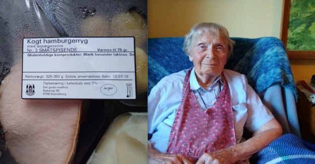Kirsten, 99 years of age, receive food from the municipality: Oh no, the meat again