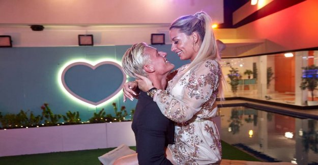 Love burst after a few weeks the Danish tv-the couple are gone from each other