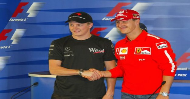 Michael Schumacher appeared on sauber's door behind Kimi Raikkonen's first F1 of the day after series juice stella ice man the remarkable rise in the limelight