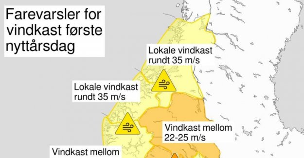 Now comes nyttårsuværet: - It hits the whole of the South-Norway
