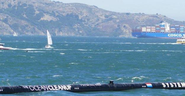 Ocean pollution : plastic debris-catcher Ocean Cleanup does not work yet