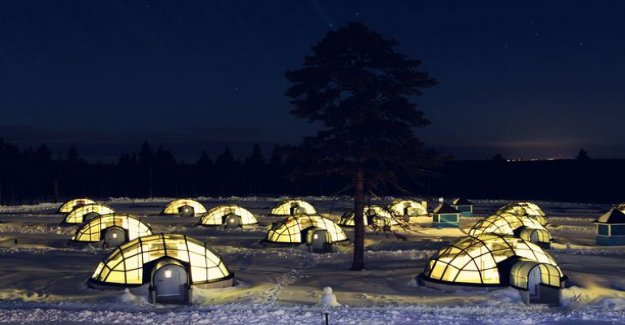Options glass-igluille: in Lapland will be developed more and more special accommodation forms