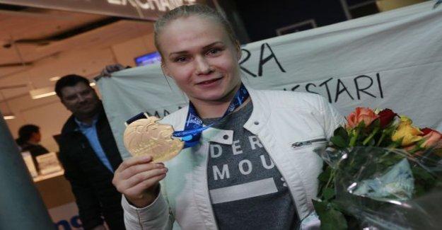 Petra Olli was elected the world's best wrestler - got a hefty cash prize!