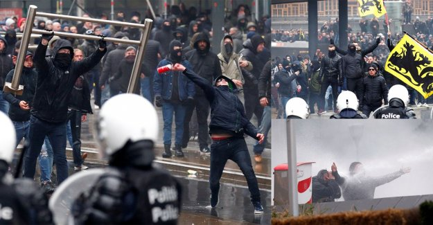 Police takes more than 90 rioters after 'march against Marrakesh' in Brussels