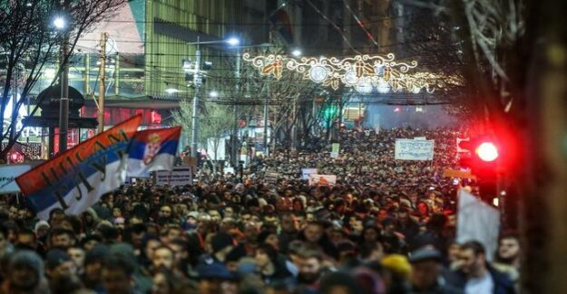 Protests in Serbia, President Vucic is annoyed