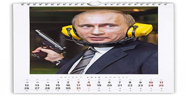 Putin to shoot, to fish and use the hole in the ice - the Russian president's starred by accessing the calendar became a hit in Japan