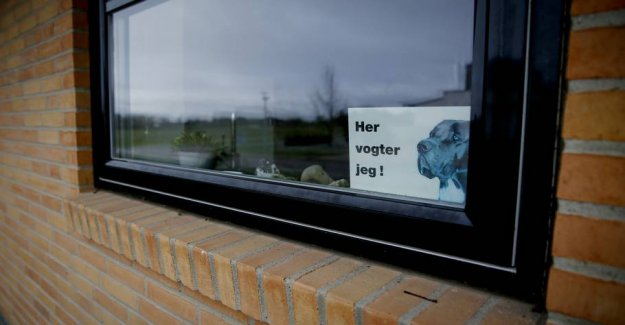 Record low indbrudstal: Our daughter is not home for something she should not see