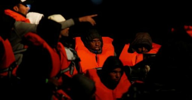 Refugees from distress at sea rescued in the Mediterranean sea