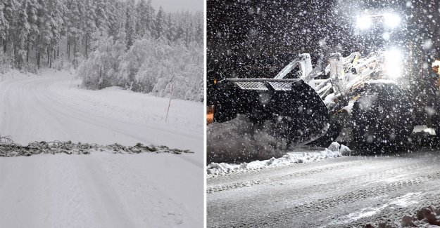 SMHI warns of snow and high winds on new year's