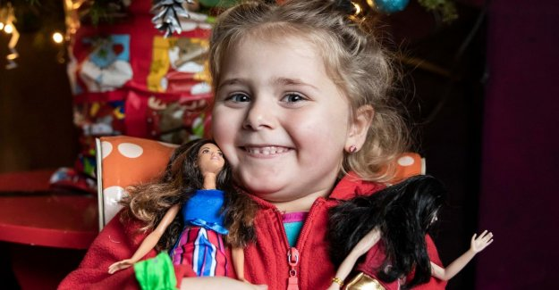 Santa claus pulls thanks to HLN readers early to Cor (4) in Sint-Truiden: girl experience now unforgettable christmas