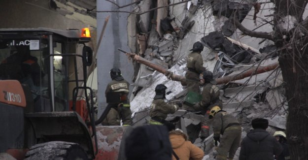 Several dead after apartment building came tumbling down in Russia. Heard cries for help from the rubble