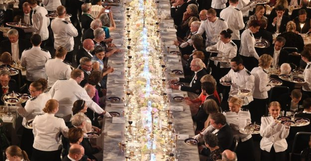 So sit the laureates and the royal family at the nobel Banquet