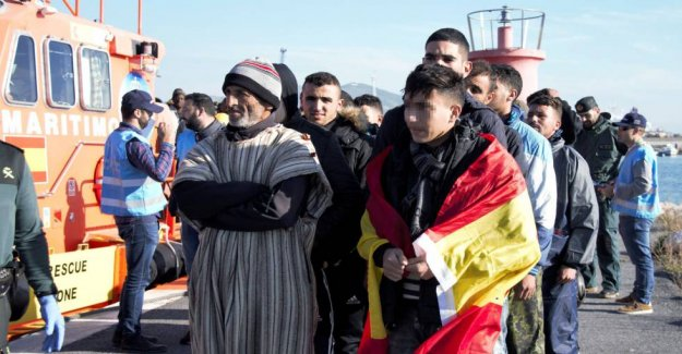 Spain ejects only one-tenth of the 11,000-moroccan arrivals this year