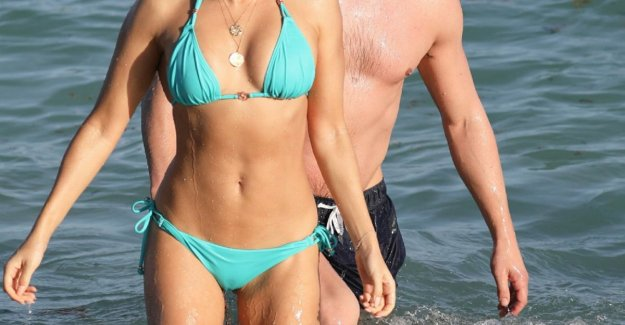Sylvie Meis closes the year as usual on the beach of Miami