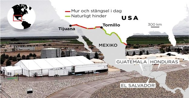 Tear gas and children in the tent at the USA's southern border