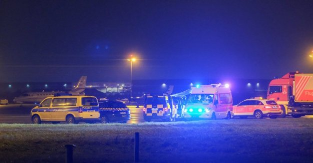 The airport in Hanover is closed then you run out on the runway