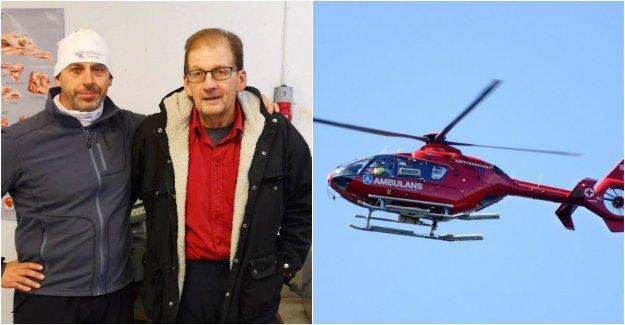 The hunter Stig-Erik, 68, had suffered cardiac arrest – saved by the Per