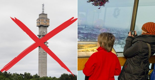 The kaknäs tower is closed to the public