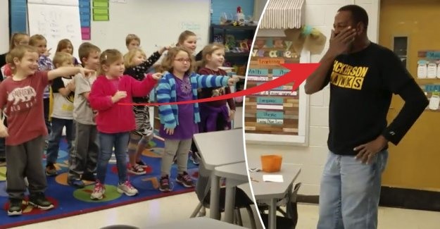 This surprises the kids, the deaf janitor