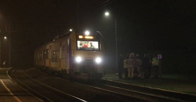 Train traffic interrupted by a desperate act