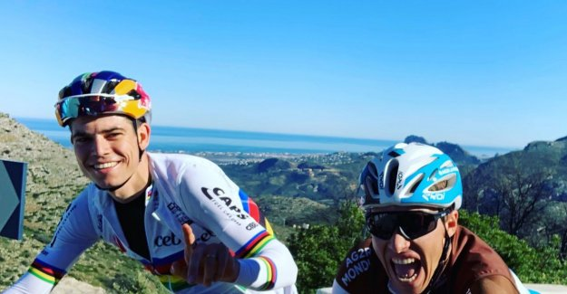 Van Aert has excellent stage behind the back: fight