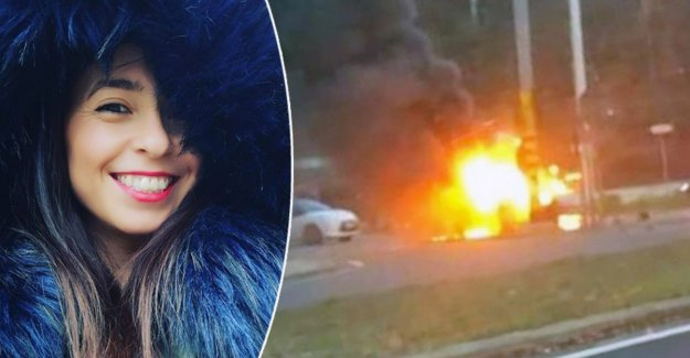 Victim find a woman that came to him from the burning car save: save Anyone, it gives a kick!