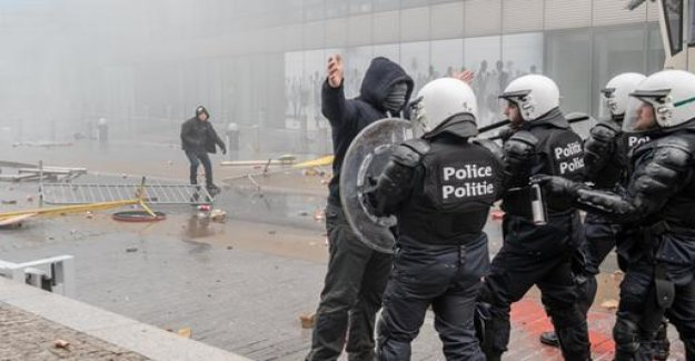Violence at right-wing Demo in Brussels