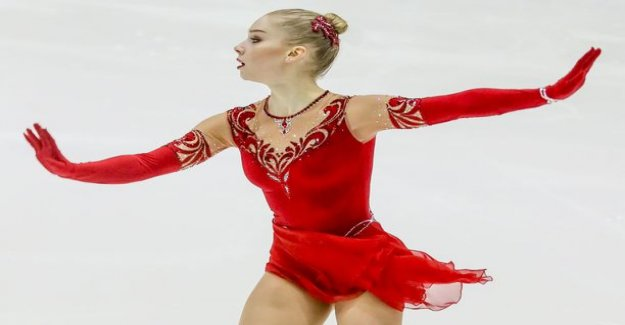Viveca Lindfors skating by far the SM-gold