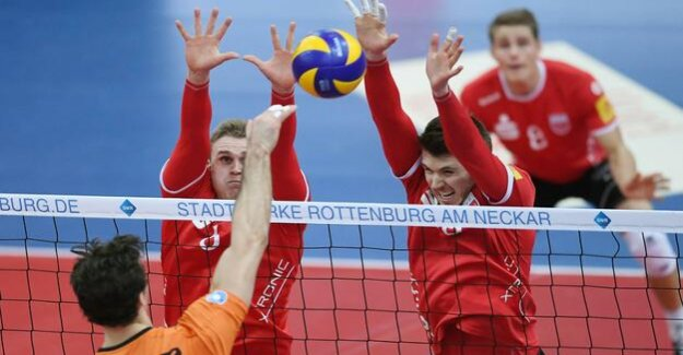 Volleyball League : BR Volleys wins scores in Rottenburg