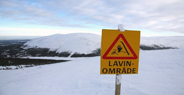 Warning for avalanches in the mountains