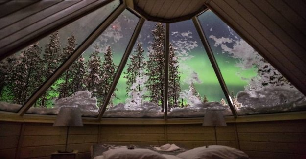 You will lie on the ice? Stay at a magical ice hotel